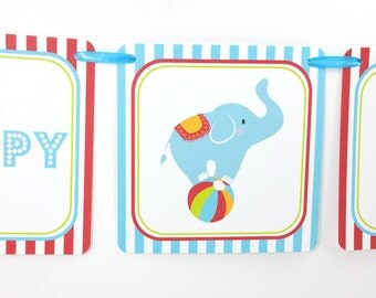 Circus Party Banner, Circus Birthday Banner, Circus Banner, Circus Party Decoration