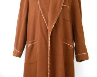 Vintage Men's Beacon Bathrobe • Mans Brown Beacon Robe