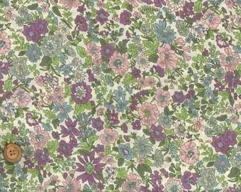 Emily, Liberty Tana Lawn Fabric, Liberty of London, Liberty Japan, Cotton Print Scrap, Romantic Floral Design, Quilt, Patchwork, kt6163z