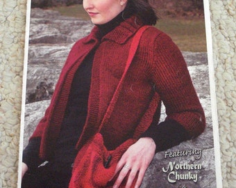 Knit Sweaters, Vest, Jacket, Bags Booklet by Kertzer - Knitting Patterns for Women's Wardrobe
