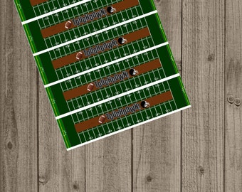Football Water Bottle Labels, Sports Water Bottle Label, Instant Download