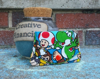 Yoshi and Toad / Nintendo grab-n-go credit card wallet