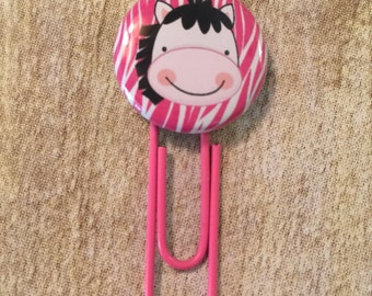 Planner Clips - Wildly Cute Zebra Button For Planners, Calendars, Or Books