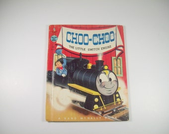 Vintage Tip Top Elf Book Choo-Choo The Little Switch Engine Childrens Story