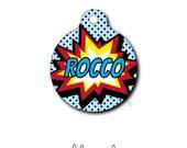 Pet Tag - Pet ID Tag - Dog Tag - Cat Tag - Lunch Box Tag - Bag Tag - Luggage Tag - Personalized Superhero Pet Tag - Super Hero - Comic