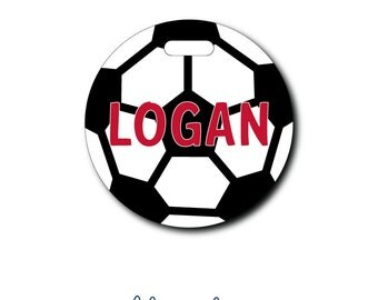 Soccer Ball...Personalized Luggage Bag Tag