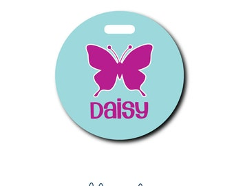 Butterfly...Personalized Luggage Bag Tag