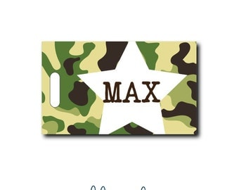 Camo Star...Personalized Luggage Bag Tag