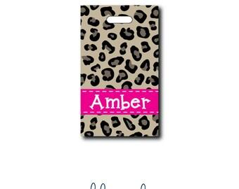 Cheetah Print - Leopard Print....Personalized Luggage Bag Tag