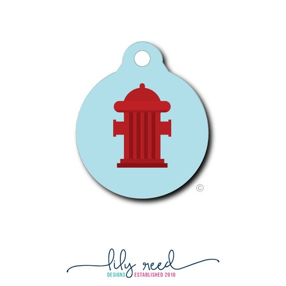 Fire Hydrant Pet Tag Pet Tag Pet ID Tag Dog Tag Cat Tag Custom Dog Tag Custom Cat Tag Custom Pet Tag Personalized ID Tag Pet Gift