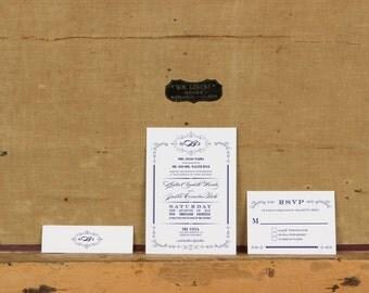Rustic Monogram Wedding Invitation,Rustic Floral Monogram wedding invitation,Rustic Wreath Monogram Wedding Invitation,Wreath Wedding Invite