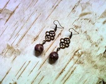 Rustic Dark Violet Earrings (2261)