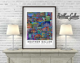 DIGITAL Print File - New Orleans Poster Print Art - Abstract Modern Mardi Gras Purple Yellow Green (HG722)