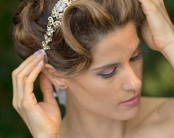 Swarovski Crystal Headband - Crystal Headpiece - Bridal Headband - Bridal Headpiece - Wedding Headband - Wedding Headpiece - Tiara - ANNE