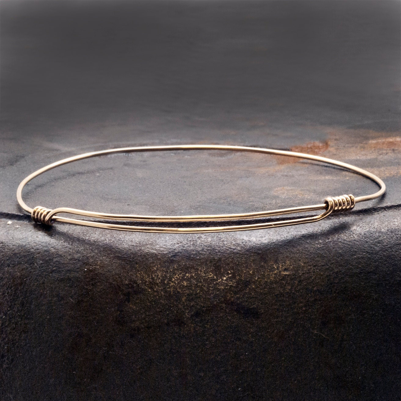 Gold Expandable Bracelet, Man/Woman 14k Gold Filled Adjustable Thin ...