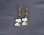 Adorable Snoopy And Woodstock Earrings