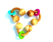 Wooden and Silicone Teething Toy Natural Baby Gifts PERSONALIZE Option