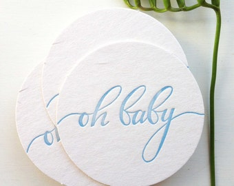 Boy Baby Shower Decorations - Baby Shower Decor - Baby Boy Shower Decoration - Oh Baby - Oh Baby Shower Decor - Calligraphy