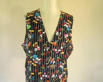 Mickey & Minnie Mouse Love Letters Vest Top