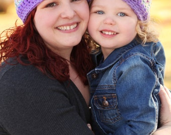 Mommy And Me Matching Summer Hats Cotton Crochet Sun Hats