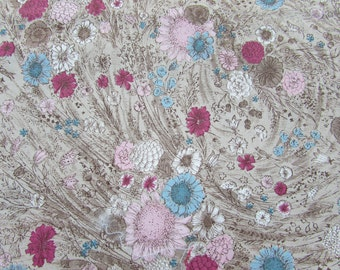 """Floral Fabric Never Misbehaves Elegance -  36"""" W x 1-3/4 yd - 50s"""