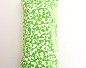 1960s Mod Shift Dress Lime Green Sleeveless Summer Handmade Womens Vintage Large