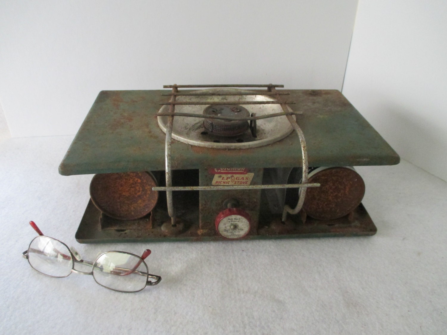 Coleman Picnic Stove Vintage Camping Gear Rusty Outdoor