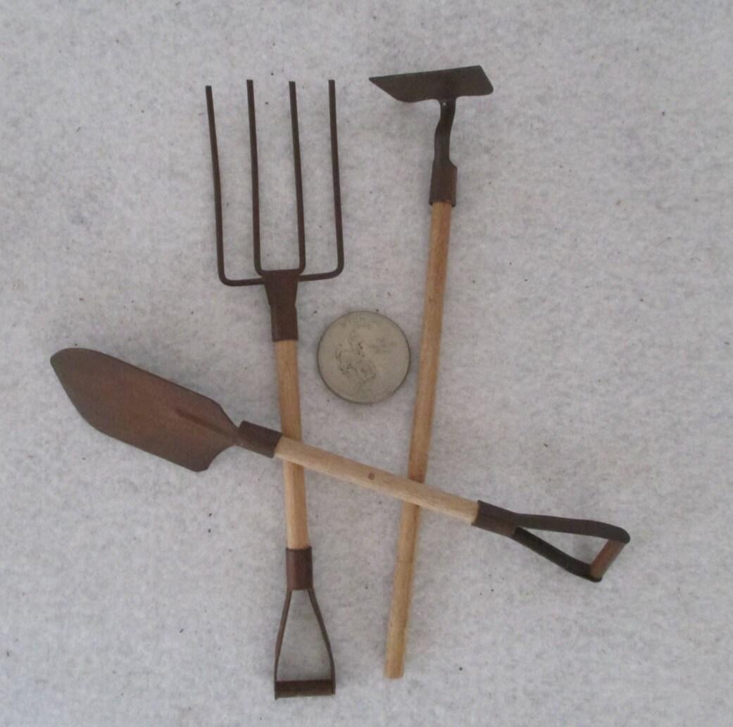 Garden tools miniature vintage minimalist zen fairy faerie for Gardening tools vintage