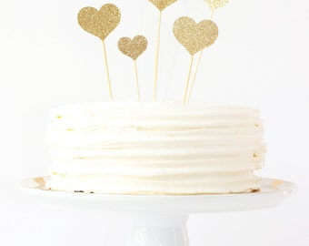 heart cake topper etsy