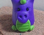Miniature Dragon ~ Tiny Clay Dragon ~ Polymer Clay Dragon Miniature ~ Cute Dragon ~ Polymer Clay Miniature by Classon Creations