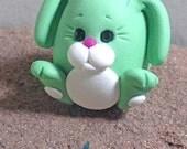 Miniature Bunny ~ Tiny Clay Animal ~ Miniature Animal ~ Floppy Ear Bunny ~ Woodland Animal ~ Miniature Collection by Classon Creations