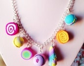 7 charms ~ Design your own Lush inspired, charm necklace, handmade, polymer clay, fashion, kawaii