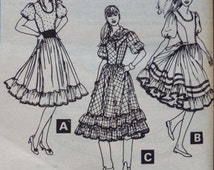 Darling Folk / western dress pattern McCall's 7668 uncut