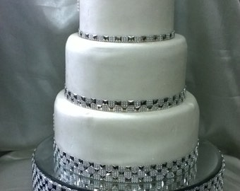 Diamante Stud Crystal Effect Cake 3m Free Diamante Trim Round Or Square All Sizes