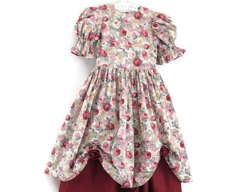 Flower Girl Dress, Girls Vintage Dress, Vintage Party Dress, Girls Bridesmaid Dress, Girls Party Dress, Girls Dress