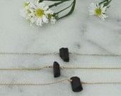 Dainty Black Tourmaline Necklace