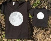 Big and Little Full Moon Shirt Set