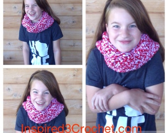 Infinity Scarf Crochet Scarf Super Soft Chunky Crochet Infinity Scarf Cowel Adult/Child Prints or solid colors Badgers Razorback