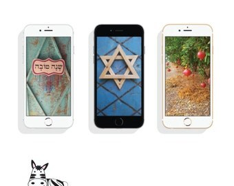 Shana Tova-Jewish Theme-wallpaper cellphone-Mobile Pictures-Cell phone Background-iPhone Digital Art-INSTANT DOWNLOAD-Jewish New Year-Hebrew