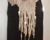 Leather Fringe Hip Bag