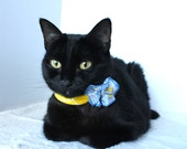 Yellow and Blue Flower Collar for Cat