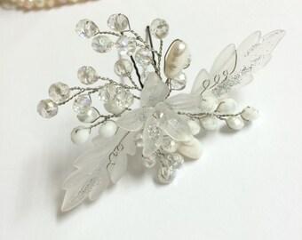 Wedding bridal headpiece, bridal hair accessories, wedding head piece, bridal hairpiece, hair pin wedding, wedding headpiece, headpiece