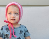 Pink Wool Ombre Bonnet READY TO SHIP