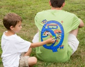 T-shirt For Him Road Map Race Track - Car Wash - Auto Repair - Oil change - Car Dealer - Gift from Son