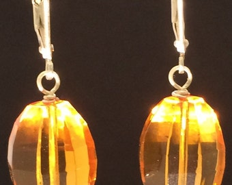 Golden Citrine Sterling Silver Earrings