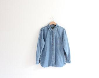 Classic Denim Button Down Shirt