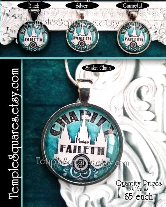 Jewelry Relief Society Emblem Pendant Necklace LDS Charity