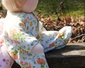 PATTERN: Knit Sleeper/Pajamas for the Wild Marigold Waldorf Baby Doll, Instant Download, PDF