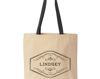 Personalized Tote Bag, Personalized Totes, Custom Tote Bags, Personalized Bridesmaid Tote Bag