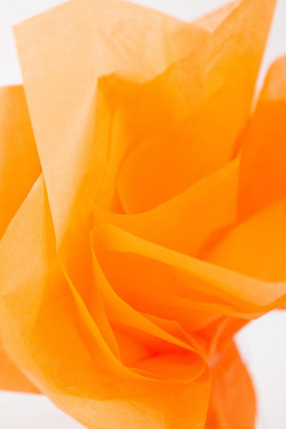 Apricot Tissue Paper 24 Sheets | Light Orange Tissue Paper ...